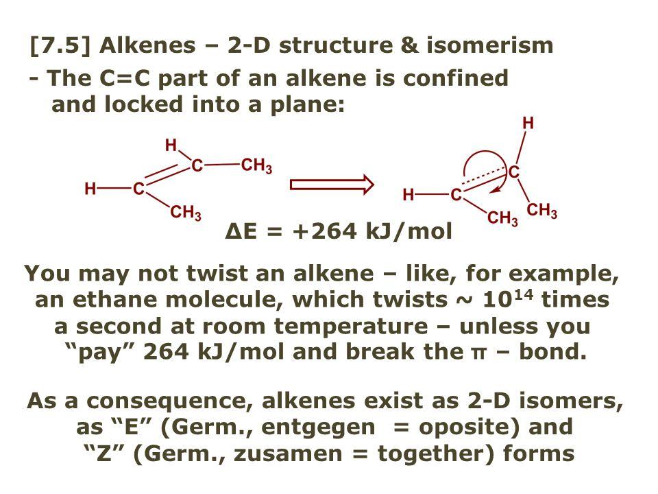 [7.5] Alkenes – 2-D structure & isomerism